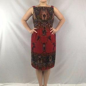 Dresses & Skirts - Vintage Ornate Print Dress